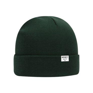 dark green beanie